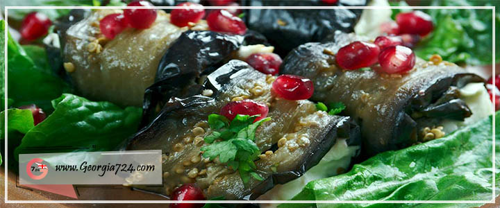 عکس غذای گرجی بادریجانی